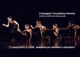 audizione per danzatori e danzatrici